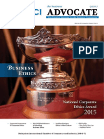 Business Ethics - Journal - 4th Quarter 2015