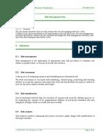 ISORisk Management Plan