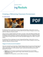 creating a welcoming classroom environment   reading rockets