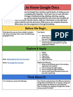 google docs - getting to know google docs