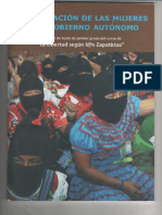 Participación de Las Mujeres en El Gobierno Autonómo
