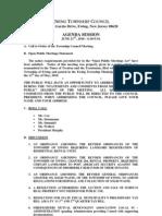 2010-06-21 Council Agenda Session