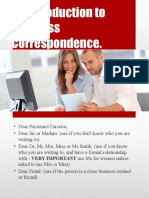 An Introduction to Business Correspondence