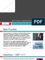Best Practices - Injectables Packaging Lines