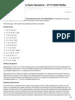 Affairscloud.com-IBPS Clerk Preliminary Exam Questions 271116All Shifts