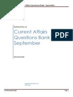 Current Affairs Question Bank September 2014 - Final