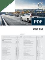 Volvo XC60 Option List