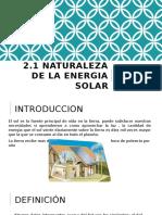 Naturaleza de La Energia Solar