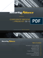 Security Alliance | Complete Security Solutions | Corporate Brochure Presentation
