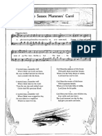 The Sussex Mummers Carol Piano Score