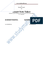 ECE Smart Note Taker Report