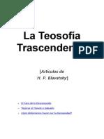 blavatsky, helena - teosofia trascendental