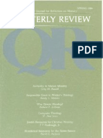 Spring 1985 Quarterly Review - Theological Resources for Ministry