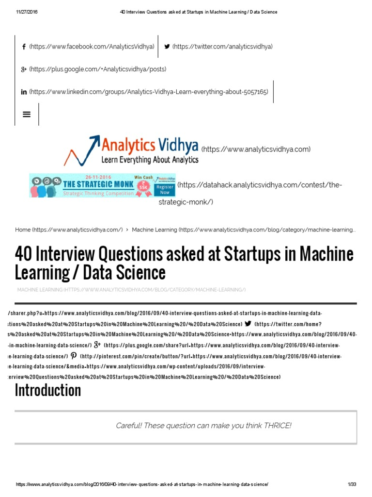 40 Interview Questions Asked at Startups in Machine Learning _ Data
