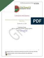 GRDS Internationl ECG Proceedings ,October 2016,Hongkong