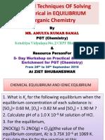 Chemical Equlibrium and Ionic Eqilibrium