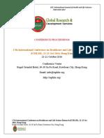 GRDS International Conference ICHLSR Proceedings,October 2016,Hongkong