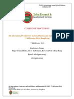 GRDS International ICSSH Proceedings ,October 2016,Hongkong