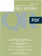 Spring 1991 Quarterly Review - Theological Resources for Ministry