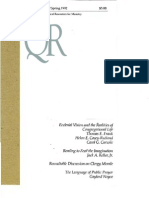 Spring 1992 Quarterly Review - Theological Resources for Ministry