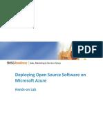 Deploying Open Source Software on Microsoft Azure