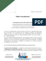 CP FN12 Fillon - Primaire 27.11.17