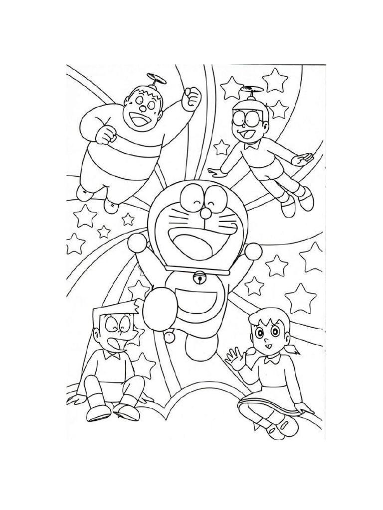 Doraemon Coloring Book Printable