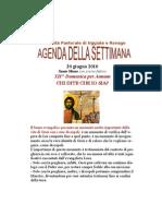 Agenda 20 Giugno