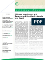 Chinese Investments Employment Creation Algeria Egypt 2012