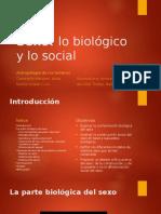 Sexo. Lo Biologico y Lo Social