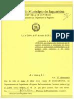 Lei - 2094_2012 - Altura Da Edificação - Permite 8 Pavimentos