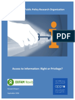 2016 11 23 - Access to Information - Right or Privilege