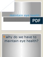 Maintain Eye Health Sabandi