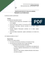 Normas y Formato Proyecto Final