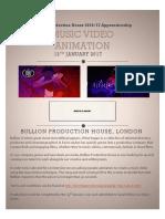 music animation brief