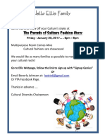 Charles Ellis Cultural Diversity Flyer - Cultural Parade