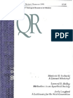 Summer 1993 Quarterly Review - Theological Resources for Ministry