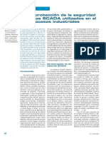 Mejora de la protección de la seguridad de los sistemas SCADA utilizados en el control de procesos industriales