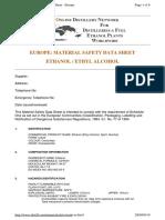 Ethanol MSDS
