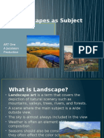 landscapes as subject matter