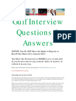 Gulf Interview Questions and Answers