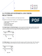 Types of Support and Support Reactions in Mechanics