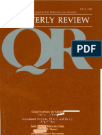 Fall 1982 Quarterly Review - Theological Resources for Ministry
