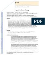 Anti-Inflammatory Agents for Cancer Therapy