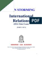International Relations 2016 questions