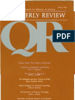 Fall 1983 Quarterly Review - Theological Resources for Ministry