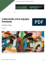Liderando Uma Equipe Herdada - Harvard Business Review Brasil