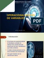 Operacionalización