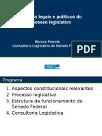Aspectos Legais e Políticos Processo Legislativo