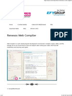 Renesas Web Compiler